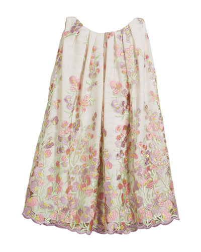 Embroidered Sweet Pea Lace Dress, Size 7-14