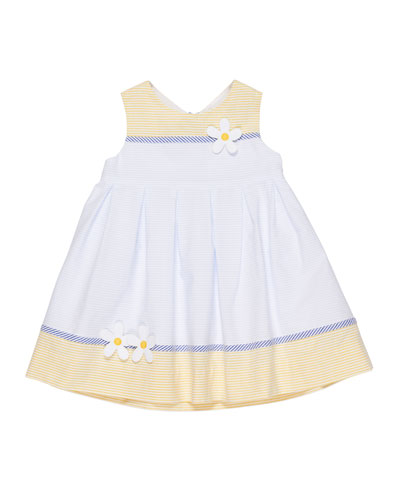 Buttercup Colorblock Stripe Seersucker Dress, Size 2-4