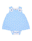 Polka-Dot Bodysuit w/ Dress Overlay, Size 3-12 Months