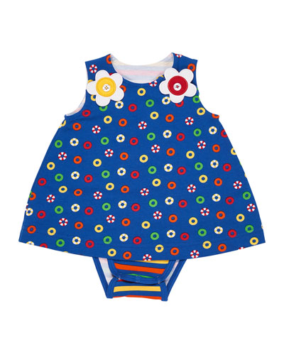 Striped Bodysuit w/ Lifesaver Dress Overlay, Size 3-12 Months