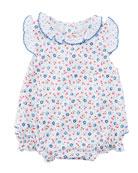 Petite Cerise Printed Pima Bubble Bodysuit, Size 0-9 Months