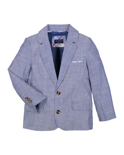 Boys' Chambray Two-Piece Suit, Size 2-7