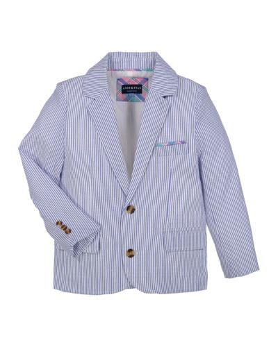 Boys' Two-Piece Seersucker Suit, Size 2-7