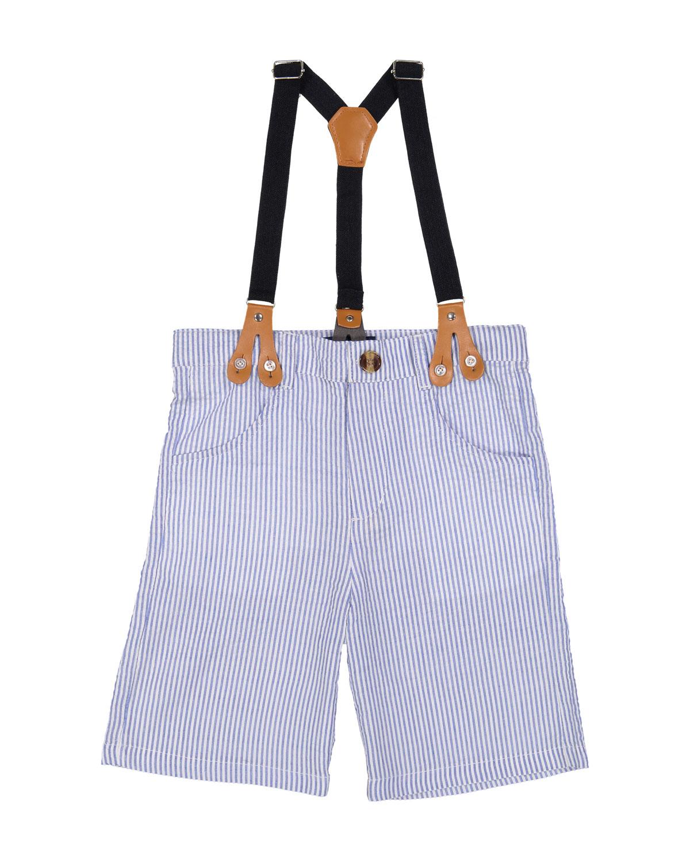 Seersucker Suit Shorts w Suspenders Size 324 Months