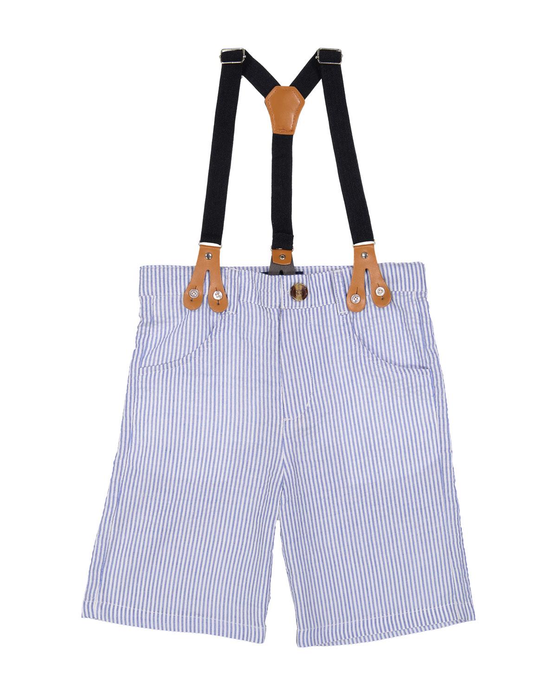 Seersucker Suit Shorts w Suspenders Size 27