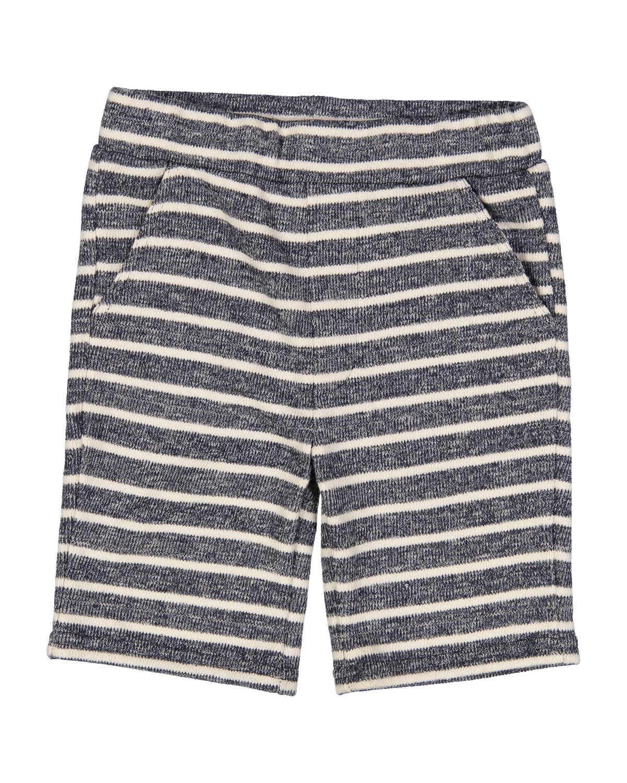 CottonBlend Striped Shorts Size 27