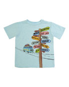 Directional Sign Short-Sleeve T-Shirt, Size 2-4T