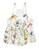 Floral-Print Spaghetti Strap Tank, Size 8-14