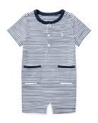 Jersey Striped Shortall, Size 3-18 Months