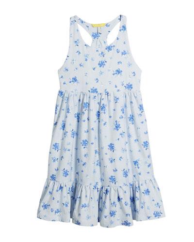 Juno Stripe & Floral Sleeveless Dress, Size 3-10