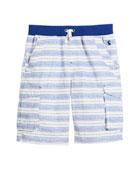 Bob Multi-Stripe Cargo Shorts, Size 3-6