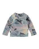 Nemo Dolphins Sunset Long-Sleeve Rash Guard, Size 3-24 Months