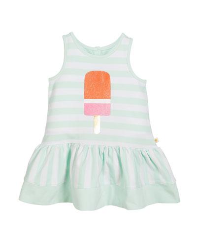 ice pop striped sleeveless dress, size 2-6x