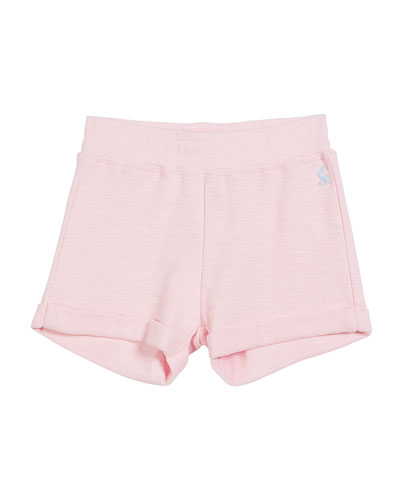 Rolled-Cuffs Cotton Shorts, Size 3-10