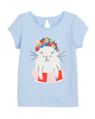 Swimming Cat Short-Sleeve Tee, Size 3-6