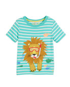Striped Underwater Sea Lion Tee, Size 3-6