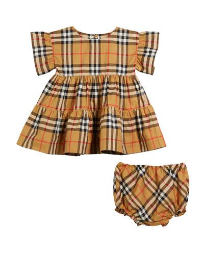 30fac69fc2c5 Girls Ruffle Neckline Dress