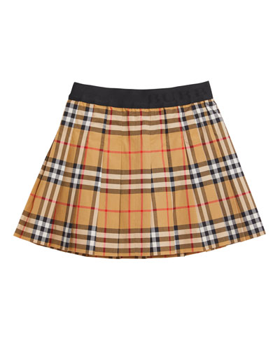 7928d04559 Quick Look. Burberry · Pansie Pleated Check Skirt ...