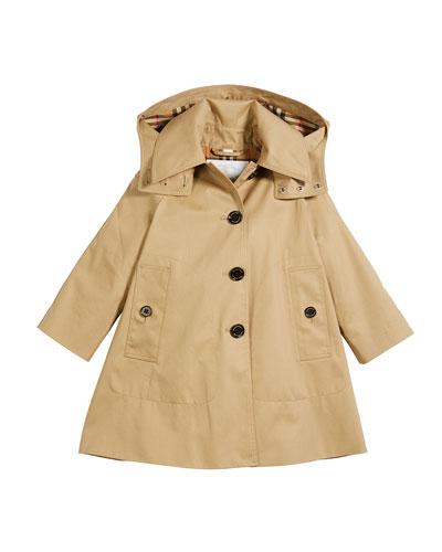 Bethel Hooded Trenchcoat, Size 4-14
