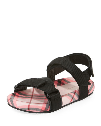 Redmire Check-Lined Sandal, Toddler Girls