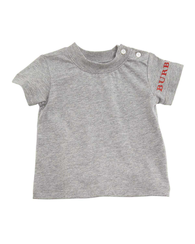 Leslie Logo-Sleeve Tee, Size 6M-3