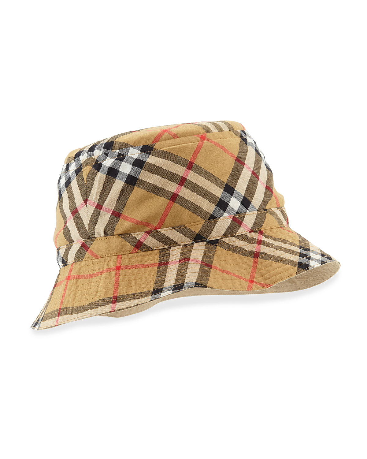 VINTAGE CHECK BUCKET HAT, SIZE M-L