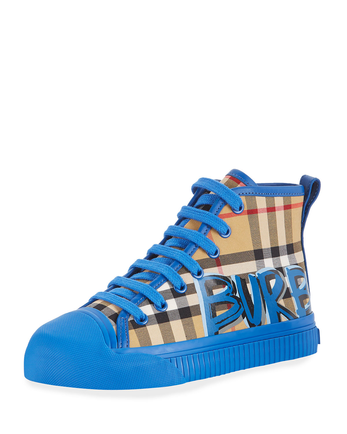 Kingly GraffitiLogo Check HighTop Sneaker ToddlerKids