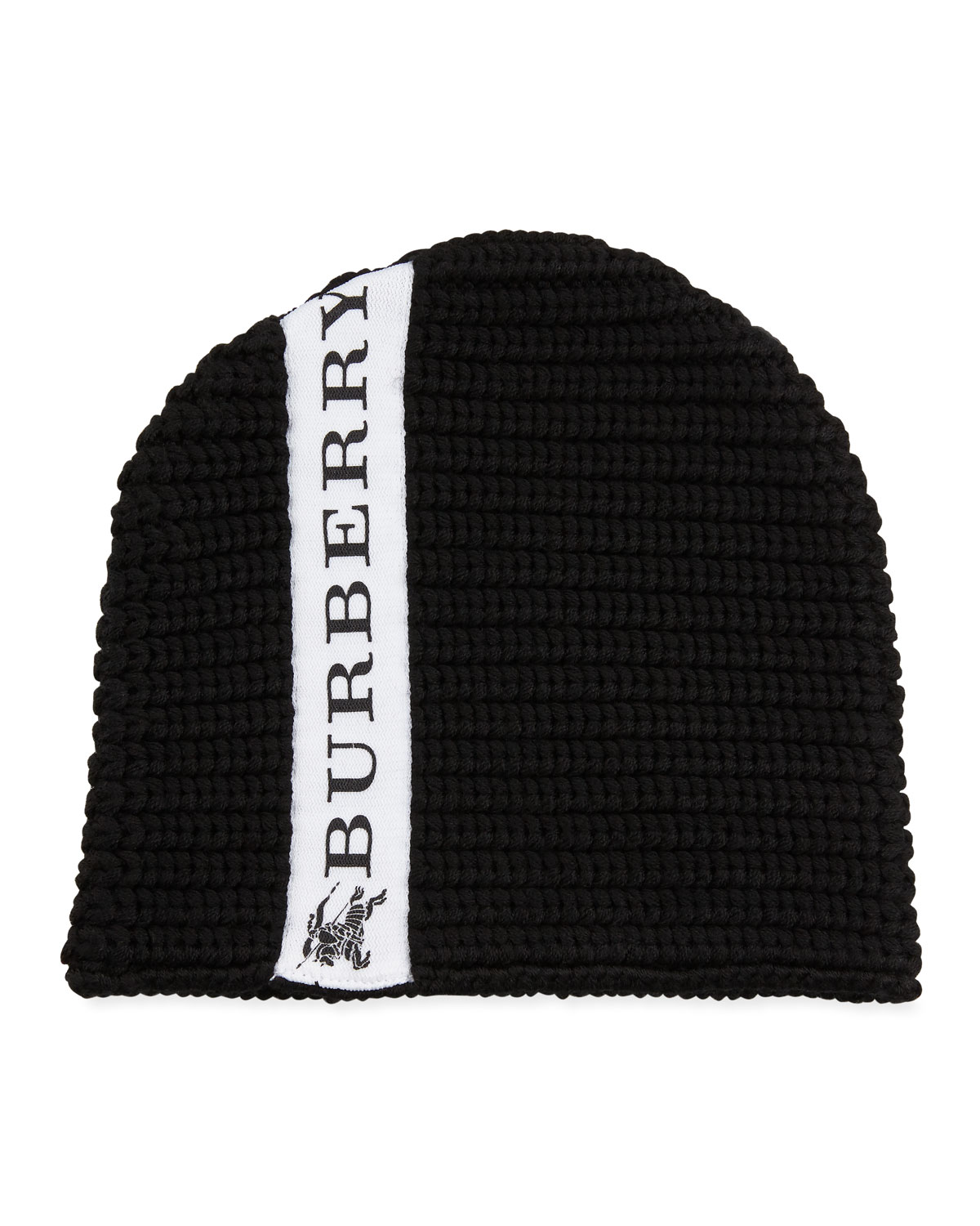 Kids' Knit Logo-Trim Wool Beanie Hat
