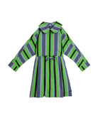 Burberry Crissida Long-Sleeve Striped Dress, Size 4-14