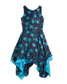 Zoe All Star Jacquard Sleeveless Dress, Size 4-6X
