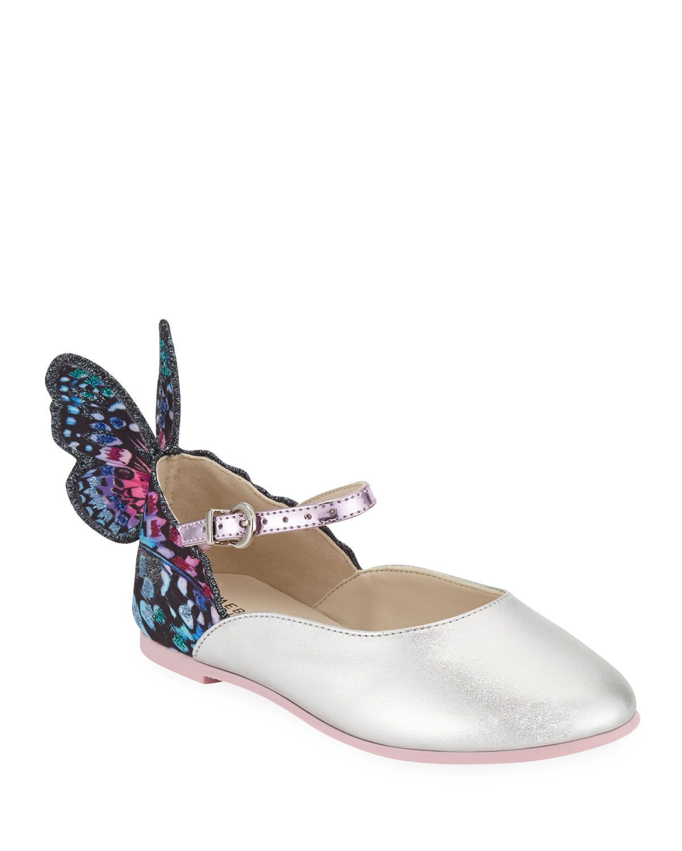 Chiara LeatherTrim Butterfly Mary Jane Flats ToddlerKids