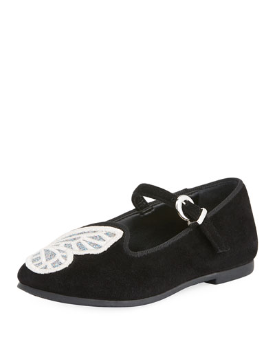 Bibi Butterfly Suede Flats, Toddler/Kid