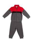 Moncler Completo Logo Cardigan w/ Matching Pants, Size