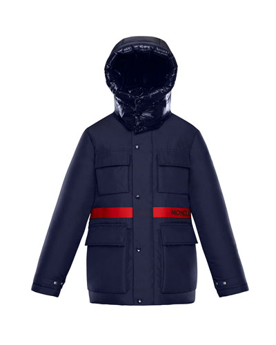 Perpignan Mixed-Material Hooded Jacket, 8-14