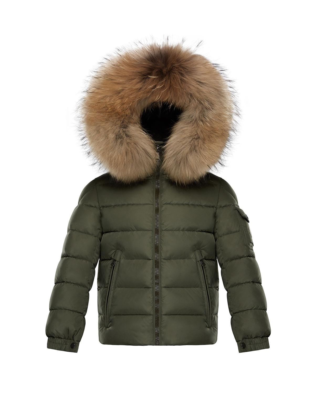 Boys Byron Hooded Puffer Jacket Size 46