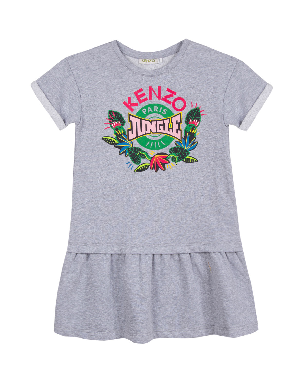 Kenzo Jungle Drop-Waist Dress, Size 2-6