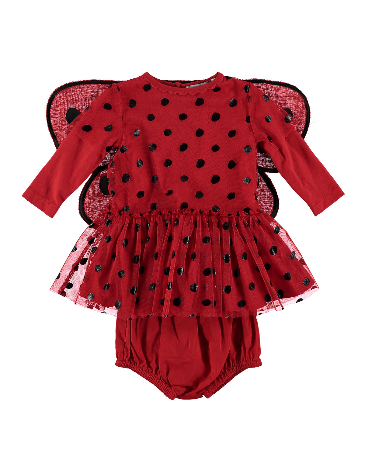 Ladybug Tulle Dress w 3D Wings Size 636 Months