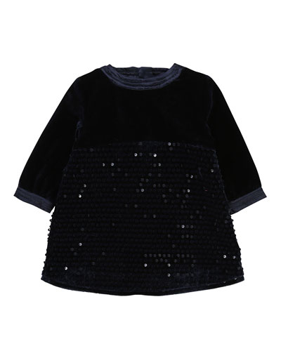 57181c98cc9fbe Girls Blue Long-sleeve Dress | Neiman Marcus