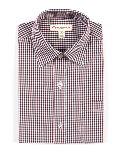 Standard Gingham Long-Sleeve Shirt, Size 2-10