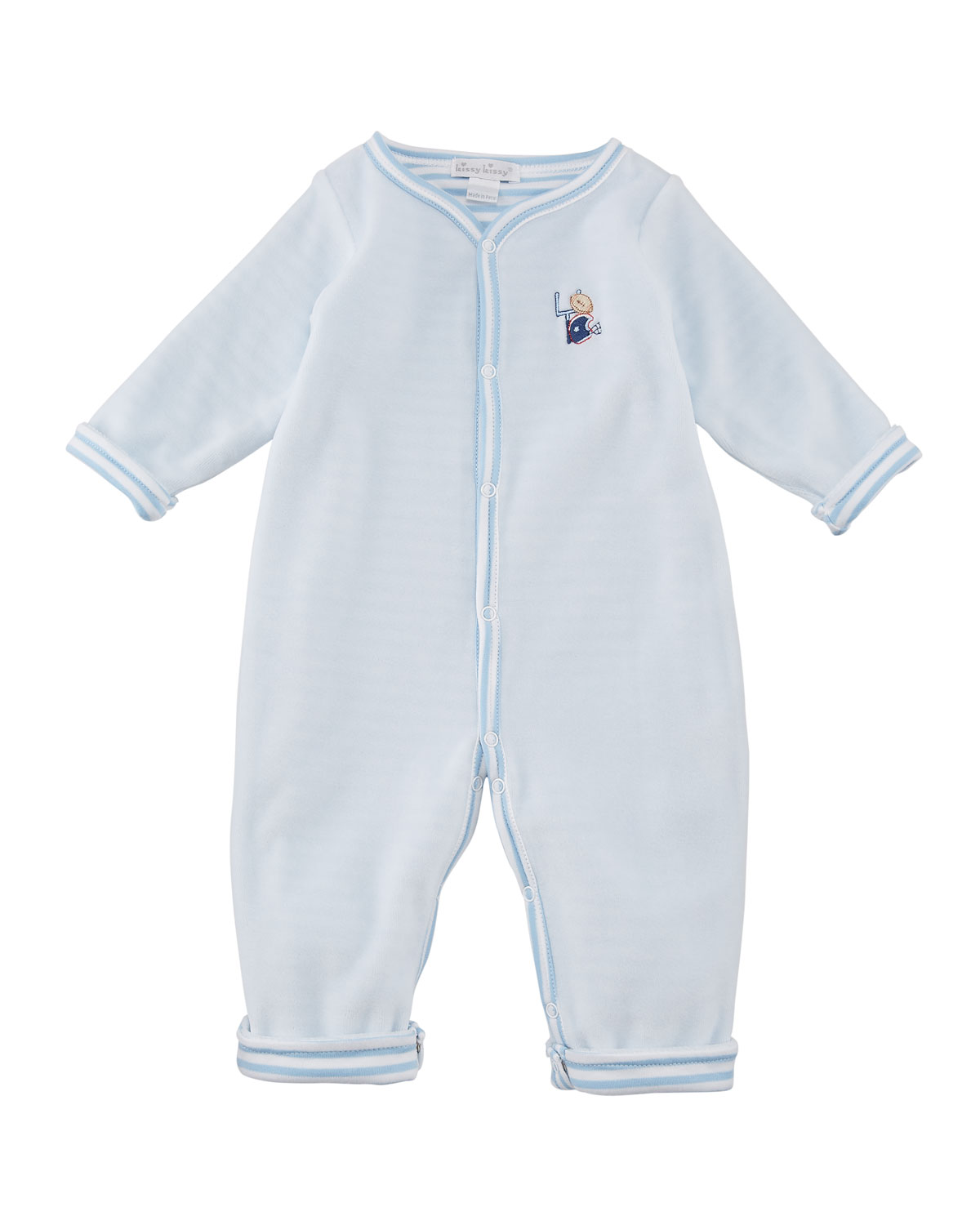 Fall Sports Reversible Pima Coverall, Size 3-18 Months