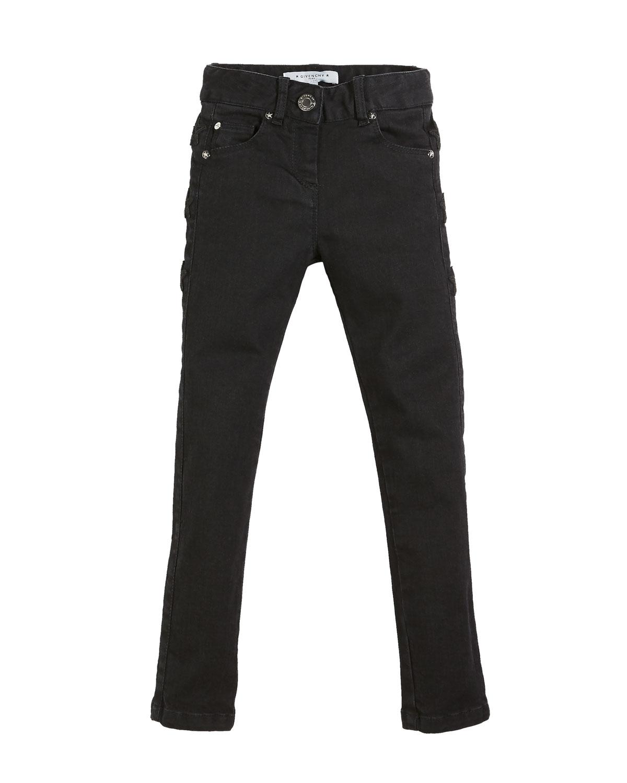 Givenchy SLIM-FIT LEATHER-TRIM DENIM PANTS