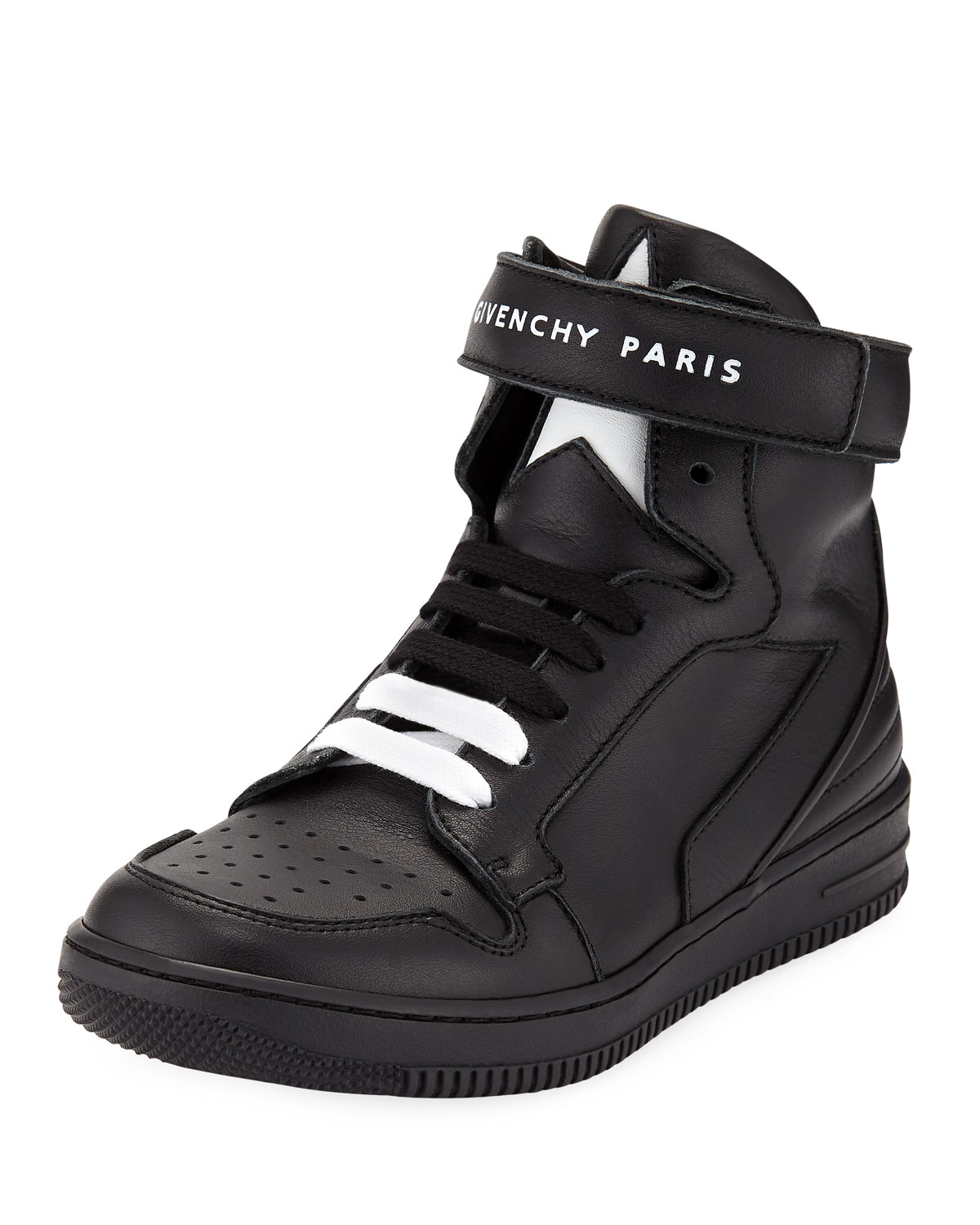 Leather HighTop GripStrap Sneakers Kids