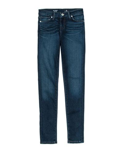 Girls' Twiggy Imperial Blue Jetsetter Straight-Leg Denim Jeans, Size 7-14