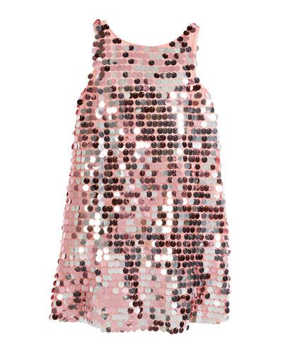 Sequin Angular Shift Dress, Size 8-16