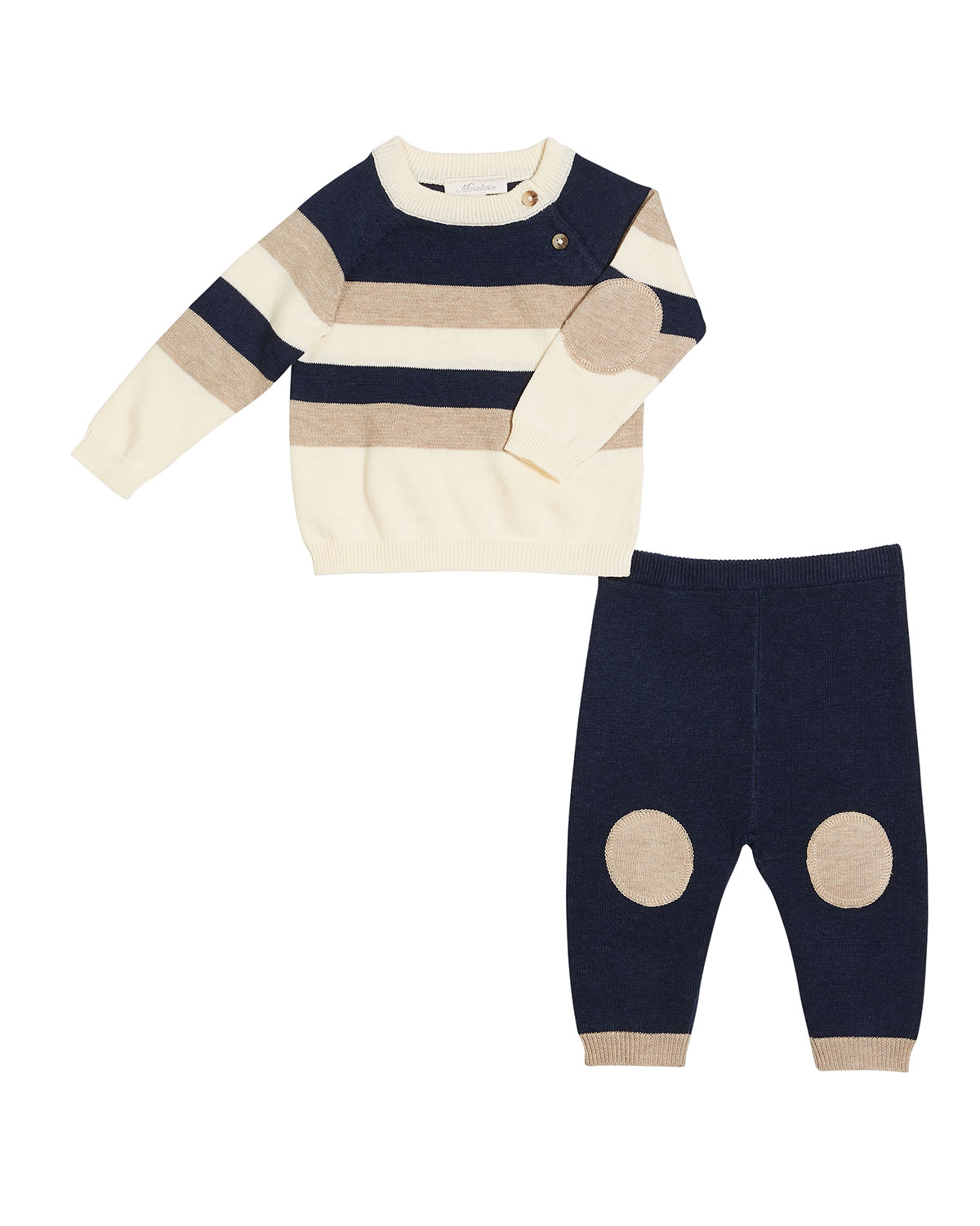 Colorblock Striped Sweater w/ Matching Sweatpants, Size 3-9 Months