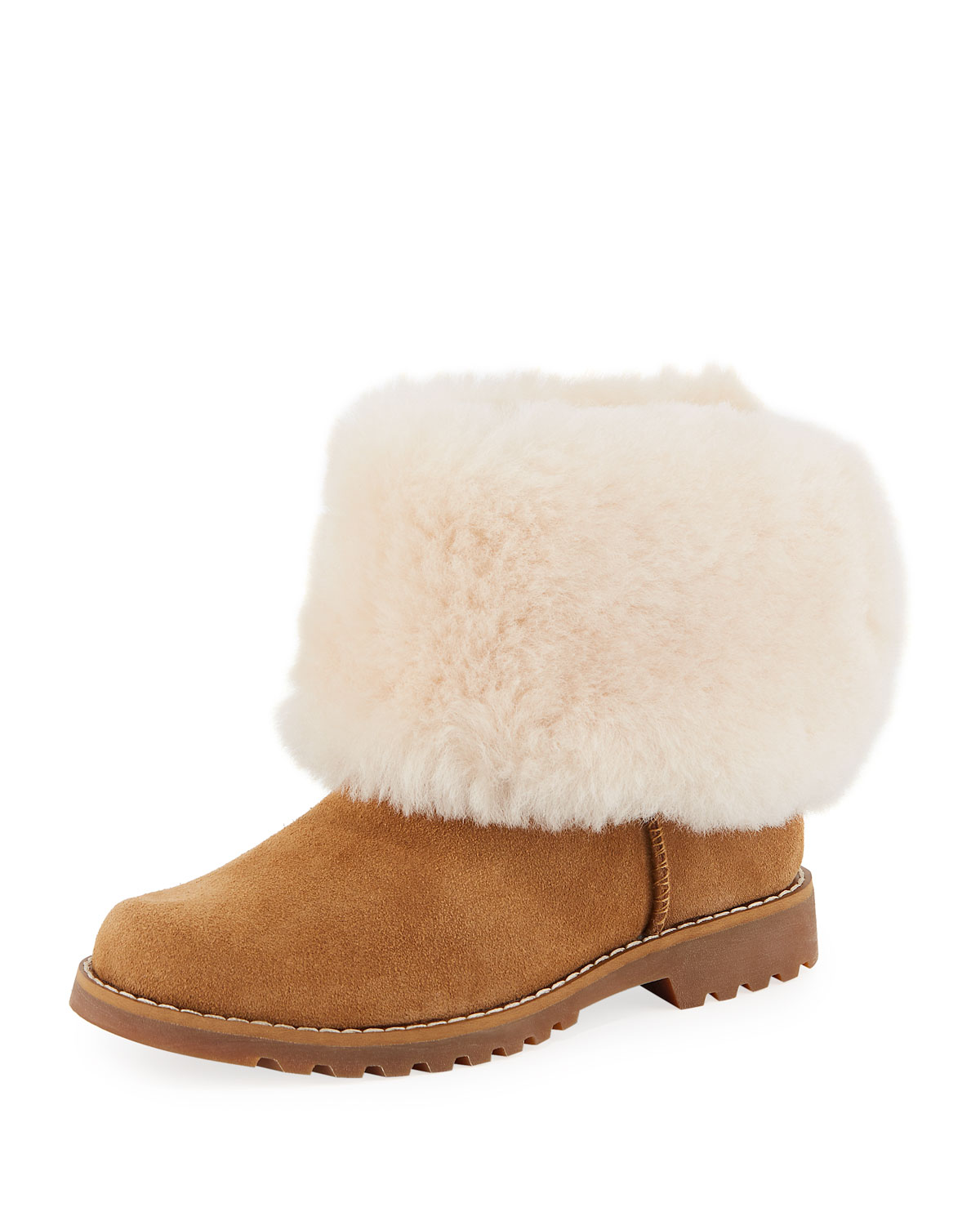 Nessa Suede Boots w Exposed Sheepskin Shaft Kids