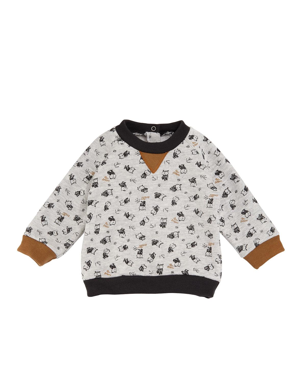 Baby Boy Owl Long-Sleeve Sweatshirt, Size 3-36 Months