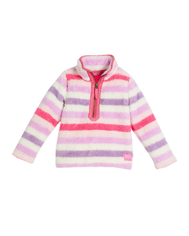 Multicolored Stripe Fleece Pullover, Size 2-6
