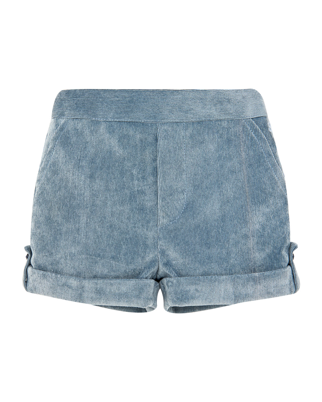 Corduroy Rolled-Cuffs Shorts, Size 6M-3
