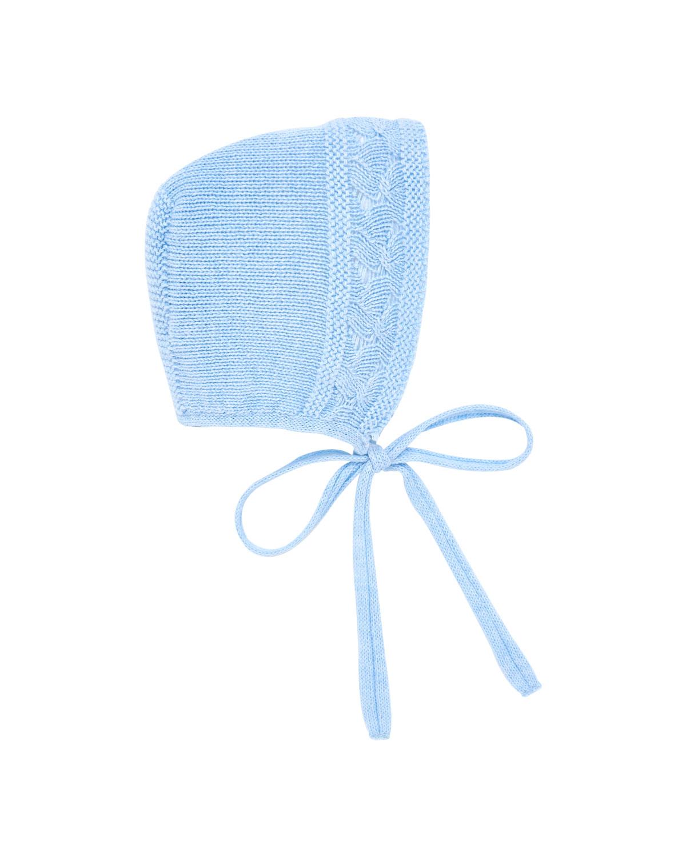 Cotton-Merino Wool Knit Baby Bonnet